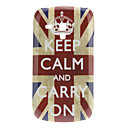 Keep Calm and Go On Slogan Hard Back Cover Case for Samsung Galaxy S3 Mini I8190