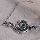 Sweet Style Snake Silver Alloy Pendant Necklace