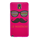 Red LE Mustache Smooth Painting Pattern Protective Hard Back Cover Case for Samsung Galaxy Note3 N9006