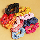 (5 Pcs)Sweet Multicolor Fabric Hair Ties FOR Women(Red and more)