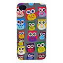 Pretty Owl Pattern Soft TPU IMD Case for iPhone 4/4S