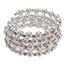 (1 Pc) Classic 6Cm WomenS 5 Layers Pearl Bracelet