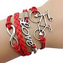 Fashion 7Cm WomenS Red Fabric Wrap Bracelet(Red)(1 Pc)