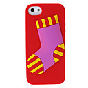 Christmas Sock Silicone Back Case for iPhone 5/5S(Assorted Color)