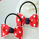 Cute Dots Pattern Bow Hair Ring for Pets Dogs