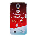 Snowy Merry Christmas Pattern Protective Hard Back Case Cover for Samsung Galaxy S4 I9500