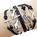 European 7Cm WomenS Black Fabric Wrap Bracelet(Black)(1 Pc)