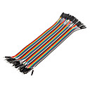 40Pin 1P-1P Male to Female Dupont Line Colorful Dupont Wire(20CM)