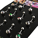 Unisex Silver Navel  Bell Button Rings 2.40.50.2(12 PCS Per Package)