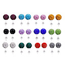 (1 Pc)Vintage Multicolor Rhinestone Stud Earrings(Red,Blue,Green,Multicolor)