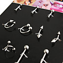 Unisex Silver Navel  Bell Button Rings 2.60.30.2(12 PCS Per Package)