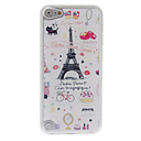 Cartoon Style Lovely Eiffel Tower Pattern Epoxy Hard Case for iPod Touch 5