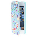 Quality Design Dream Blue Rose Pattern Smart Full Body Case with Matte Back Cover for iPhone 5/5S