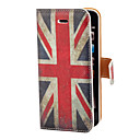 Vintage The Union Jack Pattern PU Full Body Case with Card Slot and Stand for iPhone 5/5S