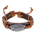 Unisex Alligator Fabric Leather Bracelet(Random Color)