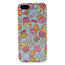 Cartoon Donut  Rose Hips Pattern TPU Imd Case for iPhone 5S