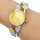 Womens Yellow Round Dial Quartz Analog Bracelet Watch