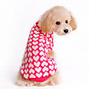 Full Loving Heart Print Round Neck Warm Sweater for Pets Dogs (Assorted Sizes)