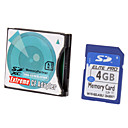 Hi-speed Ultra SD Memory Card 4G with SD-to-CF Card Adapter
