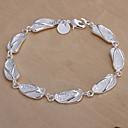 Sans - doux argent tennis de cuivre Bracelet Les femmes 19cm (argent) (1 pc) pas cher