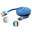 3m Noodle Flat Micro USB to USB Cable for Samsung Galaxy Note 4/S4/S3/S2 and Moto/LG/Nokia/Sony