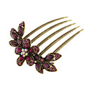 (1 Pc)Ethnic Multicolor Alloy Hair Combs FOR Women(Color Random)