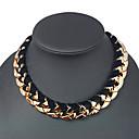 Vintage Golden Acrylic Choker Necklace(Golden) (1 Pc)
