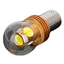 1156 6W 350lm 6000~7000K 4-SMD LED White Light Car Brake / Fog Lamp Bulb - Silver  Golden (12~24V)