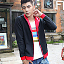 Mens Layered Contrast Color Hoodie