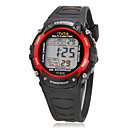 Childrens Multi-Functional  Round Dial Rubber Band LCD Digital Wrist Watch (Assorted Colors)