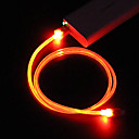 iOS 7 Compatible Apple 8 Pin to USB Transparent Glow Cable for iPhone 6 iPhone 6 Plus iPhone 5/5S and Others (100cm)
