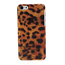 Luxury Leopard Plastic Hard Case Cover for iPhone 5C(Brown)