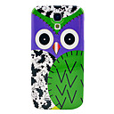 Owl  Flower Glossy Plastic Hard Cover for Samsung Galaxy S4 I9500
