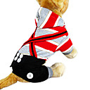 Zebra 6-Button-decorated Straps Hoodie Jumpsuit for Pets Dogs (Assorted Colors, Sizes)