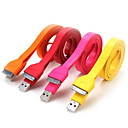 1M Wide Noodle Flat Sync Data Charger Cord Cable for Apple iPhone 4 iPhone 4S