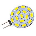 G4 4.5W 15x5730SMD 310-320LM 6000-6500K Cool White Light LED Spot Bulb (12-24V)