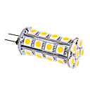 G4 6W 30x5050SMD 480LM 2500-3500K Warm White Light LED Corn Bulb (12V)