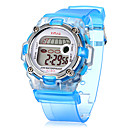 Childrens Multifunctional Digital LCD Transparent Silicone Band Wrist Watch (Assorted Colors)