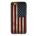 Retro Style American Flag Pattern Hard Case for iPhone 5C