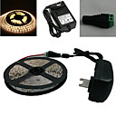 Waterproof 5M 150X5050 Smd Warm White Led Strip Light and Connector and Ac110-240V to Dc12V3A Transformer