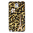 Eiffel Tower Design Leopard Pattern Hard Case with Rhinestone for Samsung Galaxy Note 3 N9000