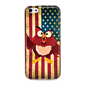 Vintage US Flag Owls Glossy TPU Soft Cover Case for iphone 5C
