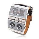 MenS Military Multi Function Leather Band Quatz Wrist Watch