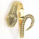 WomenS Snake Quatz Analog Golden Bracelet Wrist Watch