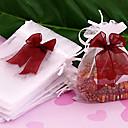 50pc 12x10cm White Organza Wedding Gift Bag Drawtring Pouche
