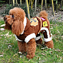 Warm Lovely Doggy Pattern Cotton Hoodie Jumpsuit for Pets Dogs (Assorted Sizes)