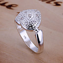 (1 Pc)Sweet Womens Silver Copper Ring(size adjustable)