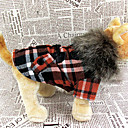 High Class alto Fleece Hoodie Plaid cappotto caldo per Animali Cani (colori assortiti, taglie)