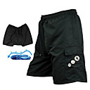 Santic - Mens Cycling MTB Elite ShortsandBibs  Shorts With Cushion And Silica Gel Cushion With Undetachable Pad