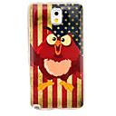 Vintage US Flag Owls Glossy TPU Soft Case for Samsung Galaxy Note 3 N9005 N9002 N9000